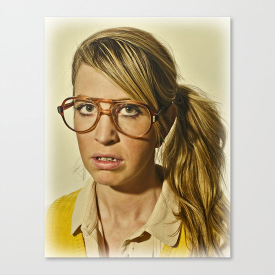 i.am.nerd. :: lizzy c. Canvas Print