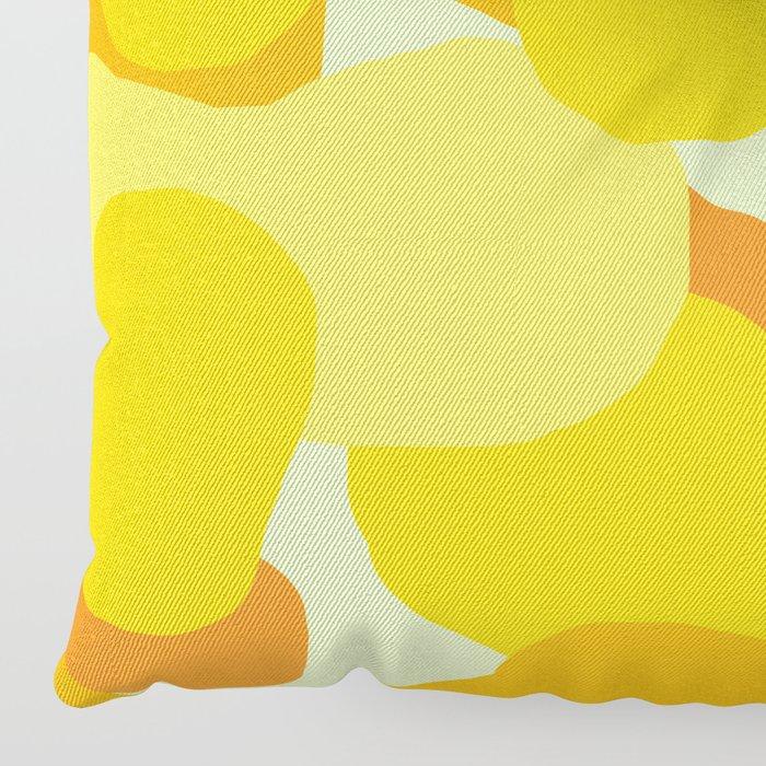 Warm And Cool Tone Terrazzo Floor Pillow