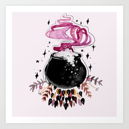 Fire Burn and Cauldron Bubble Art Print