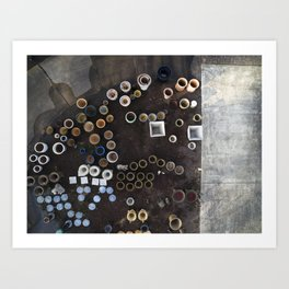 Circles from Above     Drone Photography Art Print