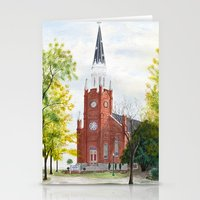 ohio Stationery Cards featuring Ohio Church by moepaints