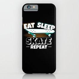 Skateboarder Eat Sleep Skate Repeat iPhone Case