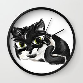 Naughty Cora - White Wall Clock