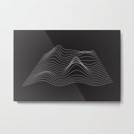 Abstract waves Metal Print