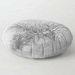 """""""King Mountain"""" Monochrome. Square. Floor Pillow"""