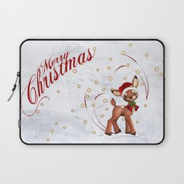 Merry Christmas in red 2 Laptop Sleeve