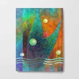 Colorful Mermaid Tail Metal Print
