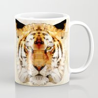 marley Mugs featuring abstract tiger by Ancello
