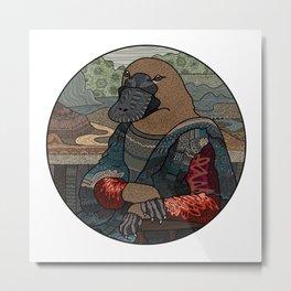 Platypus Mona Lisa Metal Print