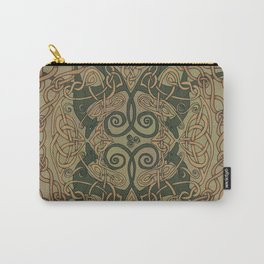 Celtic Greyhounds - Natural Green Carry-All Pouch