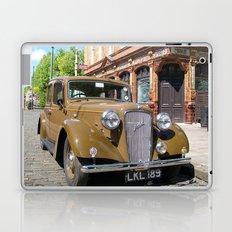 Vintage car and English Pub Laptop & iPad Skin