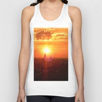russia Tank Tops featuring sunset in Russia by gzm_guvenc