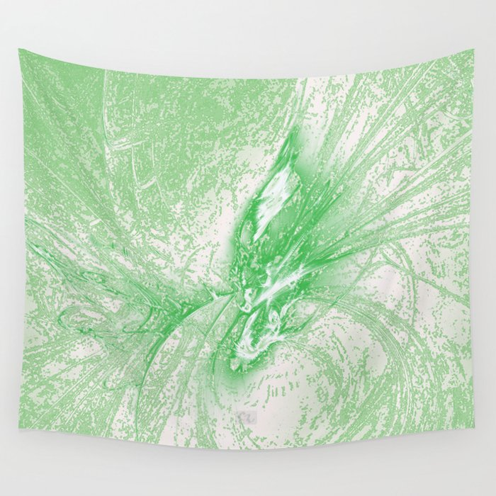 Splatter in Limeade  Wall Tapestry