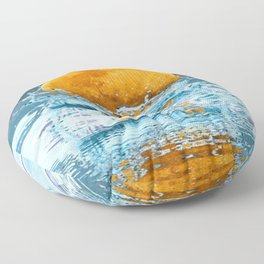 FALLING MOON OCEAN SCI-FI ILLUSION Floor Pillow