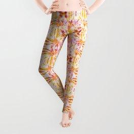 Summer Vibes Tie Dye in Sunrise Orange Leggings
