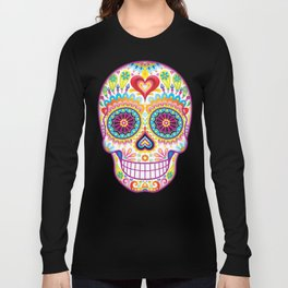 Sugar Skull Art (Luminesce) Long Sleeve T-shirt