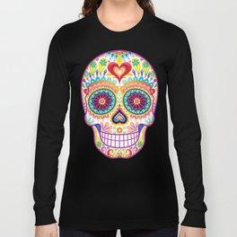 Sugar Skull Art (Luminesce) Long Sleeve T-shirt
