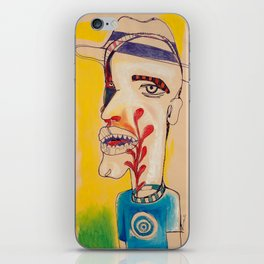 Ronald Harrington / Acrylic and Ink on paper iPhone Skin