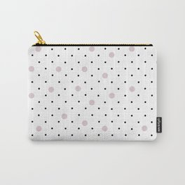 Pin Points Polka Dot Pink Carry-All Pouch