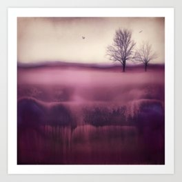 Winter Plum Art Print