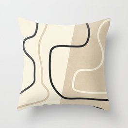 Abstract Line Throw Pillow