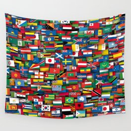 Flags of all countries of the world Wall Tapestry