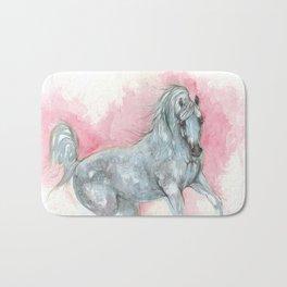 arabian horse watercolour art Bath Mat