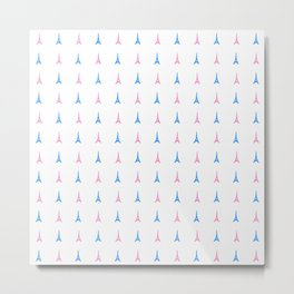 Eiffel tower 4 - blue and pink Metal Print