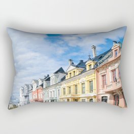 Colored Homes of Bergen, Norway Rectangular Pillow