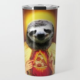 Holy Pizza Sloth Lord Jesus All over big print Animal Savior Travel Mug