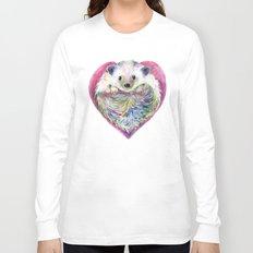 HedgeHog Heart by Michelle Scott of dotsofpaint studios Long Sleeve T-shirt