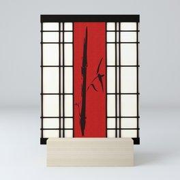 Shoji with bamboo ink painting Mini Art Print