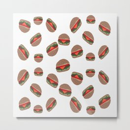 Its Raining Cheeseburgers Metal Print