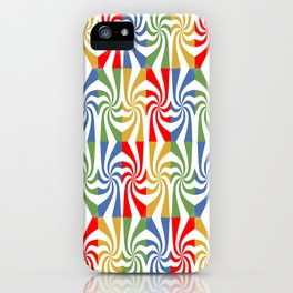 motif carré 5 iPhone Case