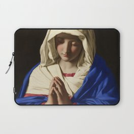 The Virgin in Prayer by Giovanni Sassoferrato (c. 1645) Laptop Sleeve