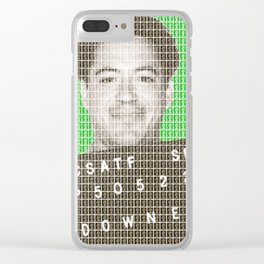 Robert Downey Jr Mug Shot - Green Clear iPhone Case