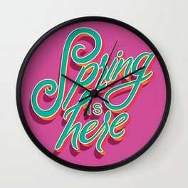 Spring is here 07 Wall Clock