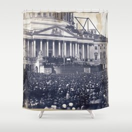 Inauguration of Pesident Abraham Lincoln (March 4, 1861) Shower Curtain