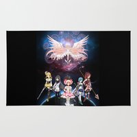 madoka magica Area & Throw Rugs featuring Madoka Magica by Yiji