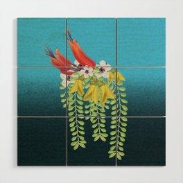 Flax, Kowhai and Manuka Flowers Wood Wall Art