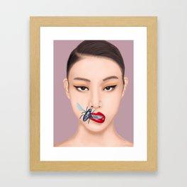She Speaks Bug Framed Art Print
