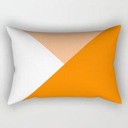 Orange Angles Rectangular Pillow