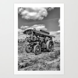 "Showmans Engine ""Lord Nelson""  Black and White Art Print"