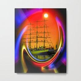 Sailing romance 13 Metal Print