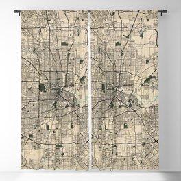 Houston City Map of Texas, USA - Vintage Blackout Curtain