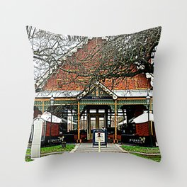 Pipers Restaurant Throw Pillow