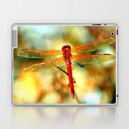 Glistening Red Dragonfly Laptop & iPad Skin
