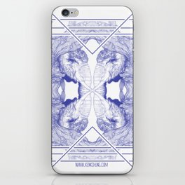 The Willow Pattern (Blue variation) iPhone Skin