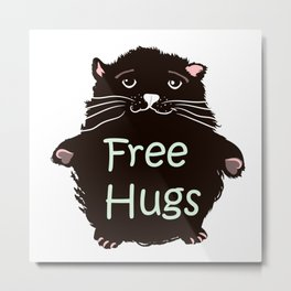 Free hugs. Cute kitty Metal Print