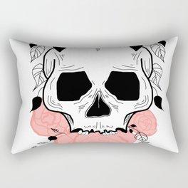Skull and peony Rectangular Pillow